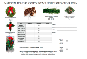 Last Day for NHS Greenery Orders