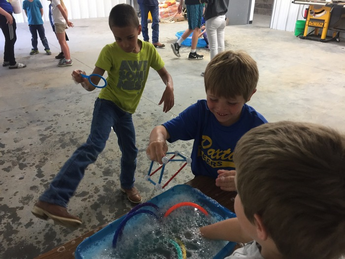 Bubbles provide an opporuntity to study science concepts such as elasticity, surface tension, chemistry, light and even geometry... all while having FUN!