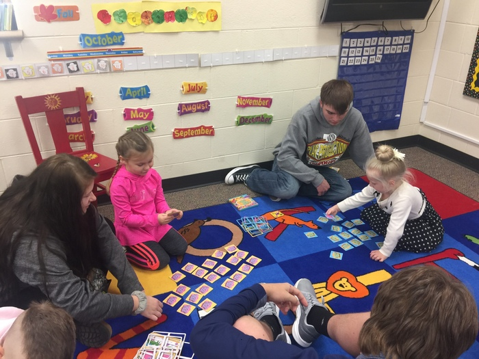 Making memories with a memory game.