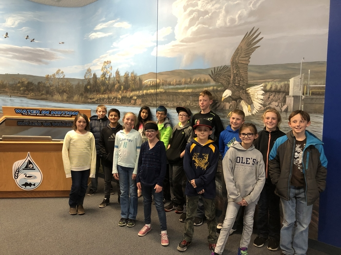 A group photo at the Game and Parks Visitors Center
