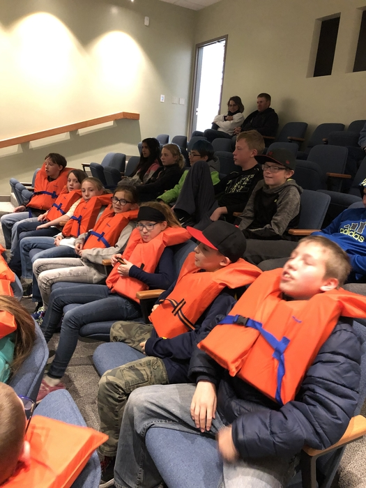 Learning about boating safety