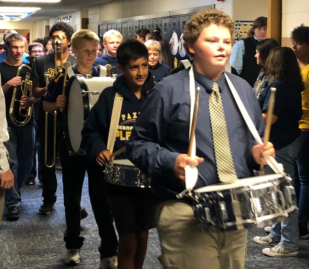 Homecoming Band in Hall