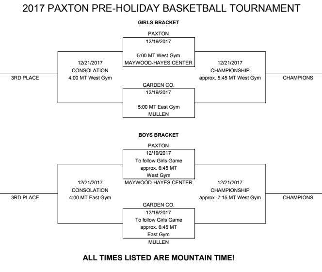 Pre-Holiday BB Tourney