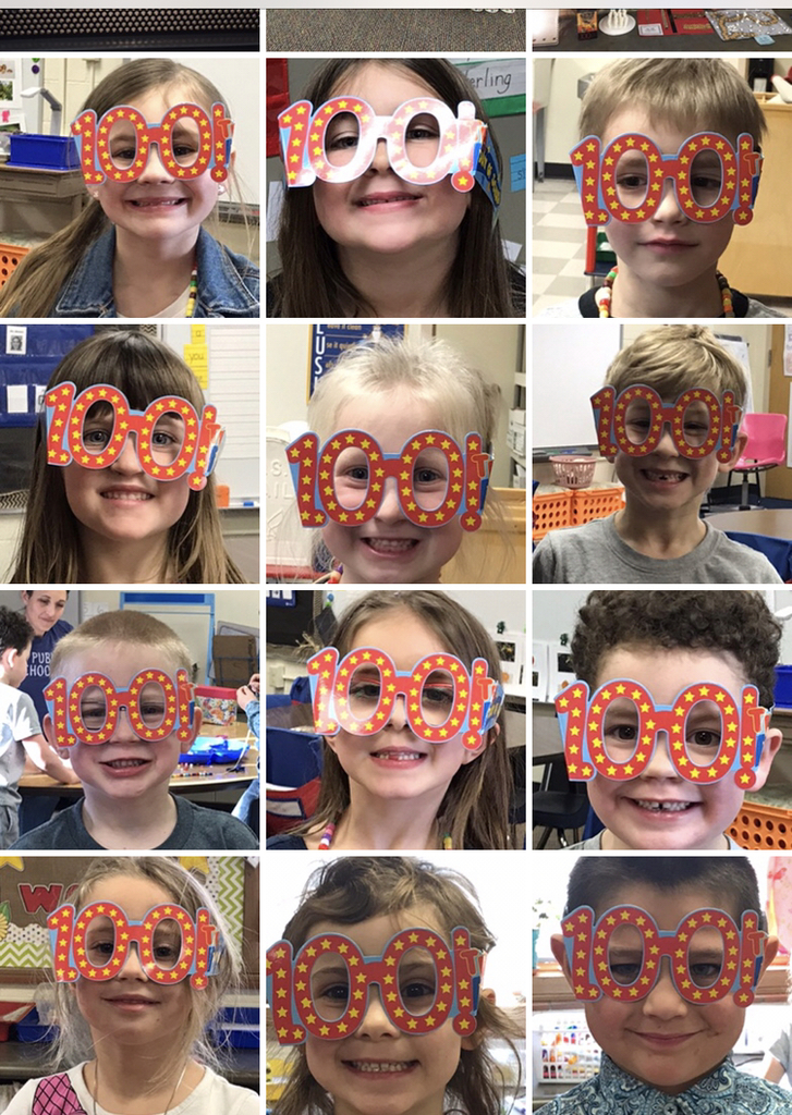 Kindergarten celebrates the 100th Day of school today!